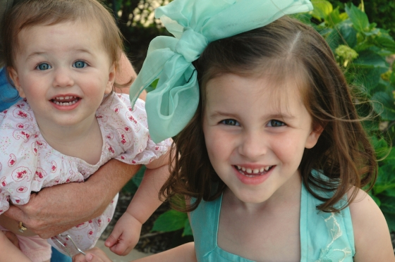 Emma and her big sister Maddie