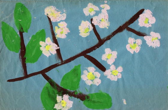 The painting for a Mother's Day card I made when I was eight.
