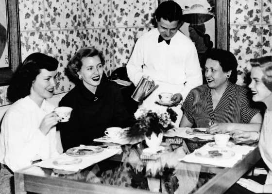 My mom (second from left) at a luncheon shortly before she married my dad.