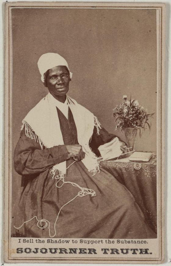 One of several portraits that Sojourner Truth sold to finance her speaking tours in the 1860s.