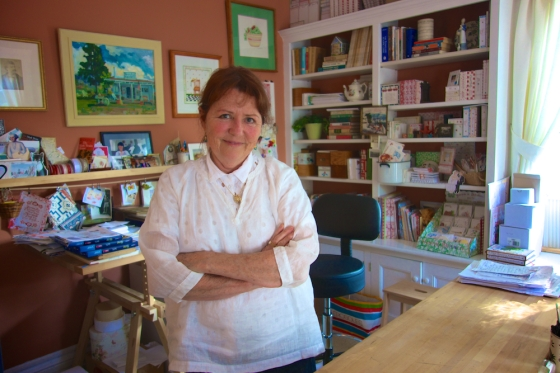 Susan Branch in her studio