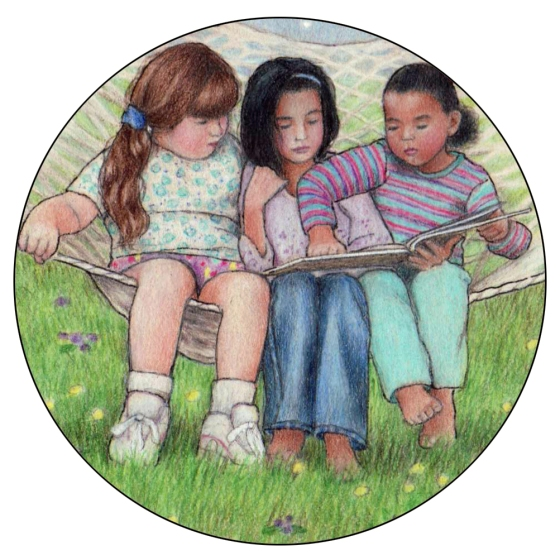 Keeping it real: Three Friends in a Hammock © Sue Shanahan 2000