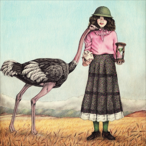 Ostrich and Girl